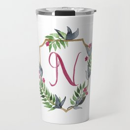 Jungle Gold Monogram Crest N Travel Mug