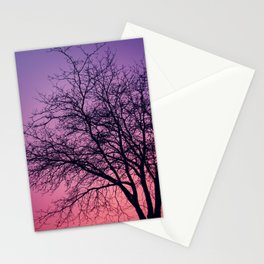 Purple Peach Sunset Stationery Cards