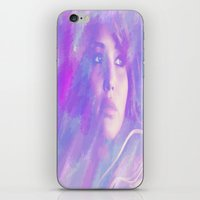 jennifer lawrence iPhone & iPod Skins featuring Jennifer Lawrence by Maria Renee