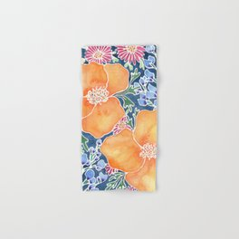 Masked Flora Collection Poppies Hand & Bath Towel