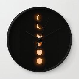 moon phases bright moon crescent moon astronomy night sky solar eclipse magic wicca lunar calendar Wall Clock