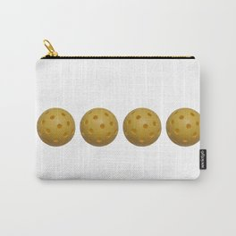 Yellow Pickleball Balls In A Row Carry-All Pouch