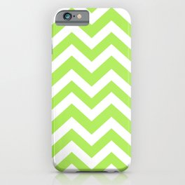 Inchworm - green color - Zigzag Chevron Pattern iPhone Case
