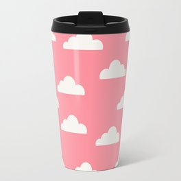 Clouds Pink Travel Mug