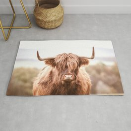Highland Cow in a Field Southern Rug