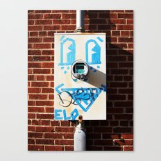 Tape Face Canvas Print