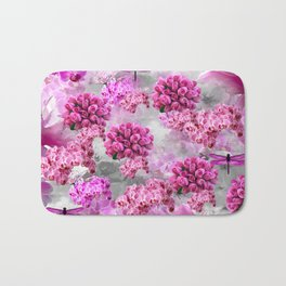 ORCHIDS ROSES AND MAGNOLIAS PINK Bath Mat