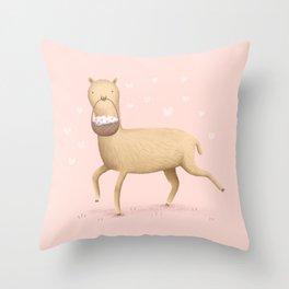 Alpaca Lunch Throw Pillow