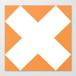X WHITE Canvas Print
