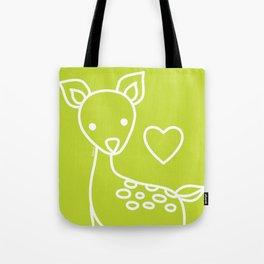 Green Deer Tote Bag