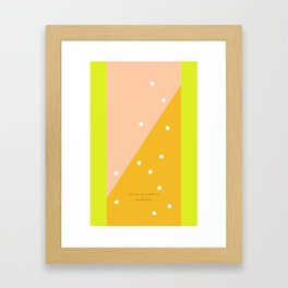 peach - 5c/4s/4 Framed Art Print