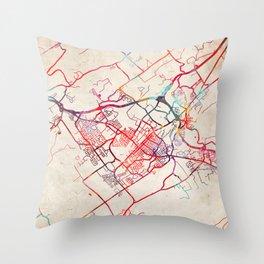 State College map Pennsylvania PA Throw Pillow