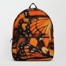 ORANGE MONARCH BUTTERFLY PATTERNED ARTWORK Backpack