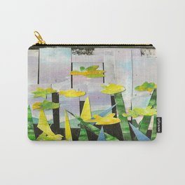Flowers in Green Carry-All Pouch
