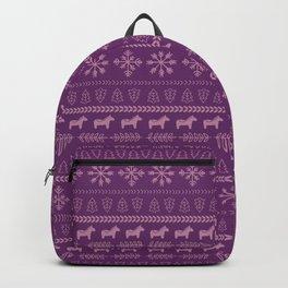 Scandinavian Christmas in Purple Backpack