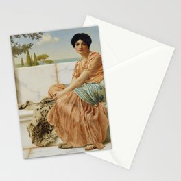 In the Days of Sappho by John William Godward (1904) Stationery Cards
