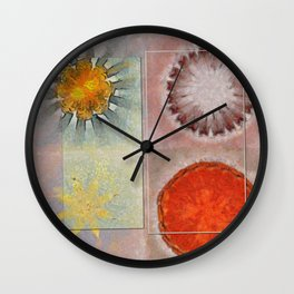 Flagonet Reality Flowers  ID:16165-093245-05721 Wall Clock