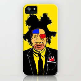Jean Michelle Basquiat iPhone Case