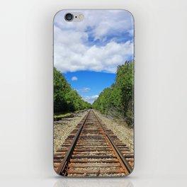 Beautiful Day Train Tracks iPhone Skin