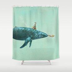 Party Whale - colour option  Shower Curtain