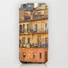 Balconies in Girona, Cataluna, Spain iPhone Case