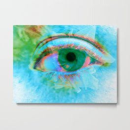 Eye in Bloom [Blue] Metal Print