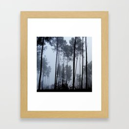 Fog and Forest III-wood,mist,romantic, greenery,sunset,dawn,Landes forest,fantasy Framed Art Print