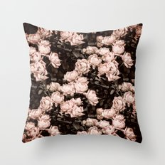New Old Dreams - Rose Bush Pattern Throw Pillow