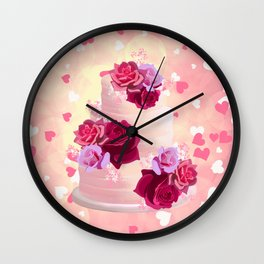 Pretty Cake Wall Clock