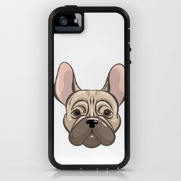 Cute french bulldog muzzle iPhone Case