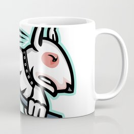 Bull Terrier Ice Hockey Mascot Coffee Mug