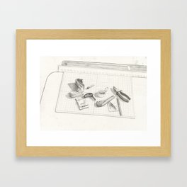 Things on the table Framed Art Print