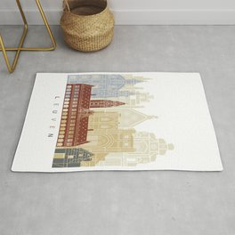 Leuven skyline poster Rug