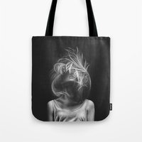 wind Tote Bags featuring Wind by Illustratic