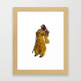 Queen Bey Hold Up digital artwork Framed Art Print