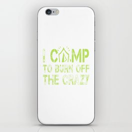 CAMPING iPhone Skin