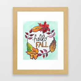 """Hello Fall"" Leaf Art Framed Art Print"