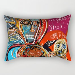 Dance to the life street art graffiti Rectangular Pillow
