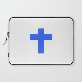 Christian Cross 9- blue Laptop Sleeve