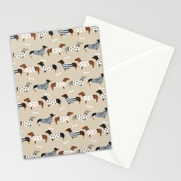 Dachshund doxie sweaters cute dog gifts dog breed dachsie owners must haves Stationery Cards