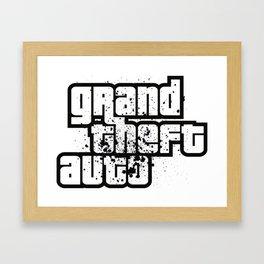 GTA - Nerdy Shirts Videogame Framed Art Print