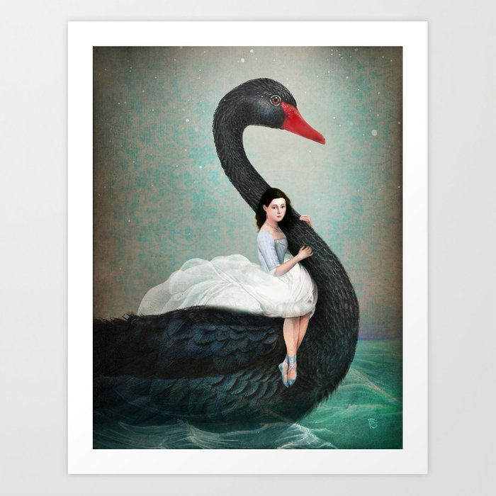 Discover the motif BLACK SWAN by Christian Schloe as a print at TOPPOSTER