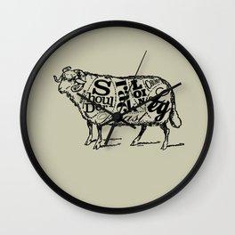Mutton Cuts Wall Clock