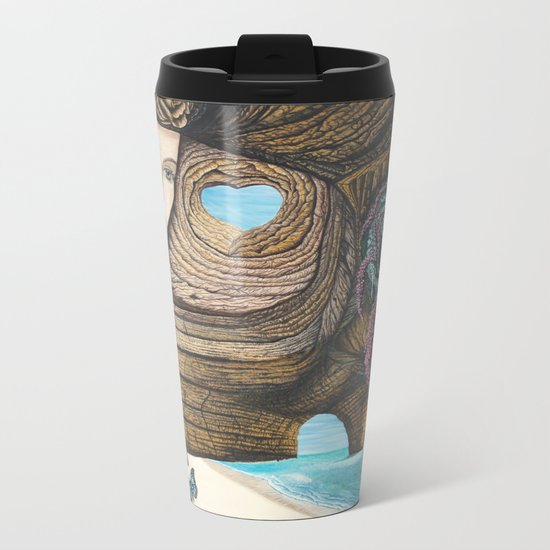 L'amour couleur azur Metal Travel Mug