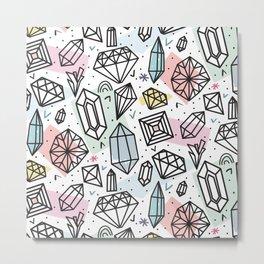 Gemstones Metal Print