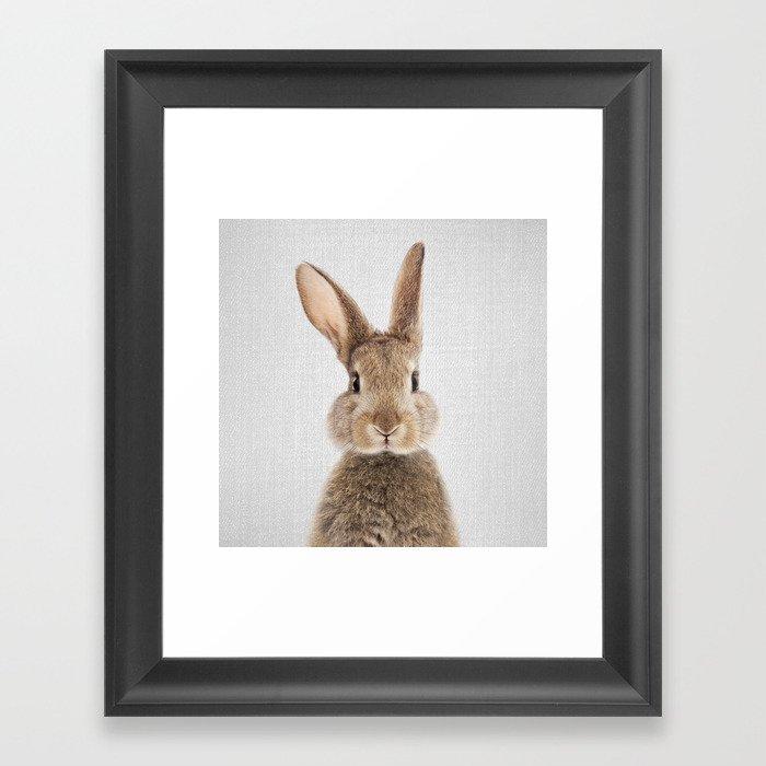 Rabbit - Colorful Gerahmter Kunstdruck
