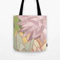 succulents Tote Bags featuring Succulents by Julia Walters Illustration