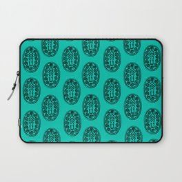 Ancient Egyptian Amulet Pattern Turquoise Blue Laptop Sleeve