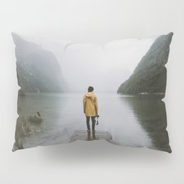 Mountain Lake Vibes - Landscape Photography Pillow Sham