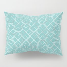 Aqua Sky Scandinavian Geometric Pattern Pillow Sham